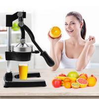 Waco Professional Manual Citrus Juicer, presse à main Orange citron citron Squeezer Presse-stand, extracteur de jus d'acier inoxydable robuste, noir