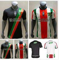 Top Qualität 21-22 Palästina Fussball Jersey Home Black White Custom Name Number Football Shirt