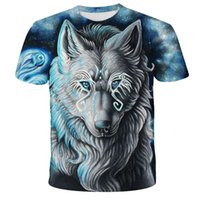 Lovers Wolf Printed T shirts Men 3D T-Shirts Drop Ship Top Tee Short Sleeve Camiseta Round Neck Tshirt Fashion Casual Brand Tk0193