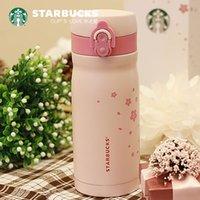 일본 스타일 starbucks 핑크 사쿠라 스테인레스 스틸 진공 컵 355ml 벚꽃 냉장 컵 텀블러 커피 물 여자 선물