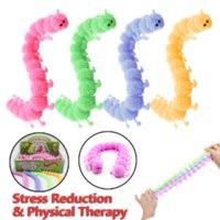 Estados Unidos Festa Favor Fidget Brinquedos 16 Knots Presentes Squishy Autism Caterpillar alivia o estresse Fisioterapia Libera Worm Anti Descompression Toy
