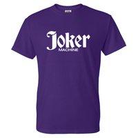 Joker Solide Farbdruck T-Shirt Männer Frauen Mode Streetwear Clown Oansatz Kurzarm T-shirt Casual Cotton Tees Tops Kleidung
