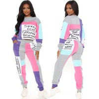 Two Pieces Tracksuit Woman Set Fleece Sweater Outfits Chandal Print Patch Ropa De Mujer Sports Female Suits Hoodies Tops Pants Women's Track