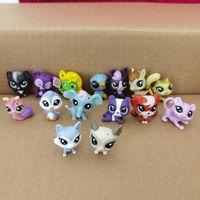 Случайный выбор 5 шт. 3 см Свободные старые Магазин Действие Фигуры Cat Щенок Котенок Рисунок Мини игрушка Классические маленькие игрушки для домашних животных имеют только 20 шт.