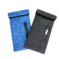 Colorful Portable Dry Herb Tobacco Smell Proof Smoking Handpipe Stash Bag Innovative Design Lighter Zipper Container Cigarette Holder Pocket Handbag DHL Free
