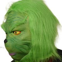Halloween Green Mask Christmas Masquerade Party Masks Costumes Accessory Cosplay Headgear Face Funny Performance BWF10365