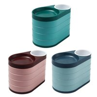 Jewelry Pouches, Bags Tray Storage Box 5 Layers Rotating Suitable For Bracelet ring necklace Ladies