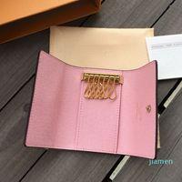 Designer - Mode Femmes Men Classique 6 Porte-clé Couvercle Homme Hommes Sac à poussière Bague 7 Couleurs Porte-monnaie Portefeuille