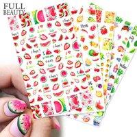 Высококачественные наклейки для ногтей 3D задний клей цвет фрукты летний пляжный цветок прямой D59T723