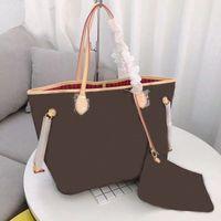 Портативные мессенджерные сумки модные модные дамы высокого качества кожа большая емкость кошелек 2 частей набор