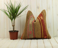 Pillow Case Handmade Kilim Cases Hand Woven Turkish Anatolian Traditional Motifs Cushion Cover Vintage Home Decorative Zip Carpet