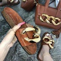 Slippers Designer Cork Shoes Women Metal Chain Pleated PU Leather Ladies Handbags Fancy Cloud Shoulder Bag Slides Set