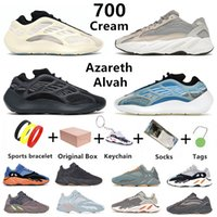 Crème kanye 700 chaussures de course pour hommes Teal Blue V3 MNVN Azareth Azael Alvah Static Vanta Utility Black bone Tephra Salt hommes femmes baskets de sport baskets avec boîte