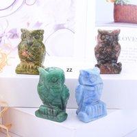 Crystal Gufo Arti e Artigianato Ornamenti Statua Desktop Un soggiorno Stile cinese Ornamento da 1,5 pollici HWD8940