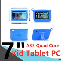 Cartoons Kid Tablets phone WIFI ALLwinner A33 Quad Core IPS touch screen Computers Dual Camera 512MB RAM 8GB ROM Capacitive 9inch tablet-pc 7inch Tablet PC