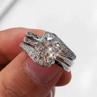 Wedding Rings Luxury Cubic Zircon Bride Engagement Women's Delicate Temperament CZ Stone Statement For Women Jewelry Gift