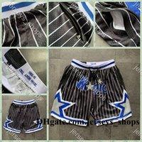 Hombres just Don Pocket Ballball Shorts retro cosido 1992-93 Black Pocket OrlandomagiaPantalones cortos de guarnición de malla deportivos pantalones de pantalones deportivos