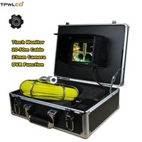 """Cameras Waterproof 23mm Industrial Video Camera 7"""" TFT LCD Screen 20-50m Cable Pipe Pipeline Drain Inspection System With DVR"""