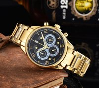 Progettista da uomo superiore Designer Gold Factory Orologi in acciaio inox Band Montres Reloj Clock