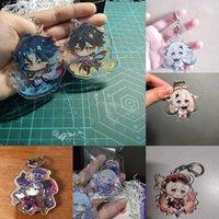 Anime Keychain Genshin Wirkung Zhongli Diluc Hanging Tier Mann Xiao 77 Schlüsselketten Frauen Tasche Anhänger Schlüsselanhänger Echte Fotos Y0728
