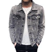 Men's Jackets 2021 Denim Jacket Men Hole Retro Motorcyle Basic Coat Streetwear Hip Hop Bomber Cowboy Jean Chaqueta