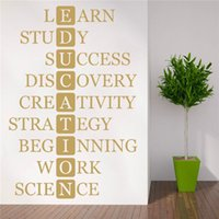 Wall Stickers School Sticker For Education Quote Learning Words Classroom Decor Motivational Study Lettering Art Decals RU430
