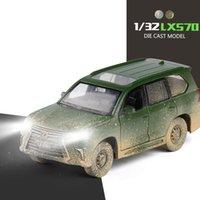 1:32 LX570 Legierung Off-Road Auto Modell Military SUV Modell Ziehen Sie Spielzeugautos Fahrzeug mit Schalllicht für Kinder Erwachsene Sammlung