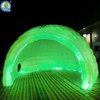 حزب الديكور نفخ قبة خيمة تغيير اللون أدى الإضاءة تضخم Igloo للإعلان تعزيز الحدث