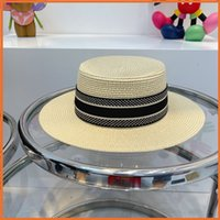 草ブレイドの贅沢なデザイナーのバケツの帽子レディースファッション藁帽子男性女性サンハットデザイナーキャップフィッシャーマンコロエルフル帽子2105157Y