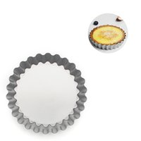 Mini Tart Pan Removable Bottom Non-Stick Round Quiche Bakeware Cakes Desserts Cookie Pudding Mold 4-Inch LLE6689