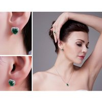 Crystal Zircon Real 925 Sterling Silver Earrings Channel Cubic Zirconia Stud For Women Jewelry
