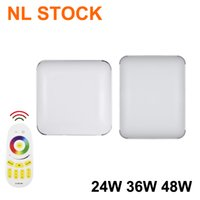 NL STOCK White Square LED Ceiling Light Fixture Convenient and Durable 48W Thickened Panel lighting Lamp for Bedroom Kitchen Bathroom Hallway Stairwell