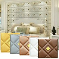 Wallpapers European-style 3D Wall Stickers For Living Room Wallpaper Self Adhesive Decor Bedroom TV Background Foam
