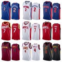2021-2022 Новый проект выбора 2 Cade Cunningham Jersey 4 Evan Mobley 7 Jalen Green черный синий белый красный хороший для мужчин Баскетбольная рубашка Униформа команда отправит реальное число