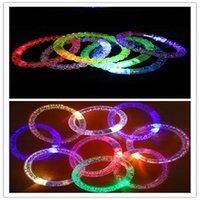 2021 Giocattoli per bambini all'ingrosso LED Braccialetto luminoso Braccialetto luminoso Concerto Puntelli Puntelli Puntelli Bolla Flash Perline e Bolle Interactive XZ983123