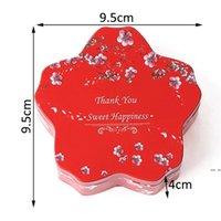 Caja de cookie Candy Festive Fiesta Suministros de boda TinPlance Regalo Embalaje Favors Wrap Hwe6001