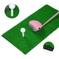 Golf Training Aids 60*30cm Practice Hitting Mat 10mm Artificial Lawn Nylon Grass Rubber Tee Backyard Durable Pad