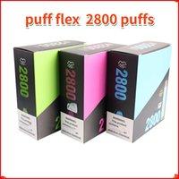 Puff Flex Electronic Cigarros Starter Kits 2800 Puffs Descartável Vape Pen 1500mAh Bateria 10ml Pré-preenchido 13Colors Vapores Originais Atacado