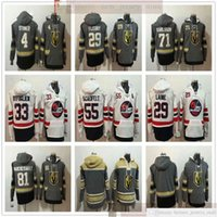 Vegas Goldene Ritter Hockey Hoodies Trikots 29 Marc-Andre Fleury 71 William Karlsson 29 Patrik Laine 33 Dustin Byfuglien 55 Mark Scheifele