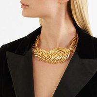 Vedawas collana di dichiarazione foglia d'epoca per le donne metallo maxi oro color collare choker gioielli gioielli regali all'ingrosso girocolli