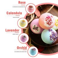 Bubble Bath Bomb Dry Flower Explosion Natural Floral Essential Oils Bathbombs Fizzers Shower Steamers Bathing Deep see Salt Ball DHF10069