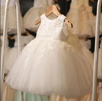 White First Communion For Girls Girl Dresses Brand Tulle Lace Infant Toddler Pageant Flower Dress Weddings And Birthday