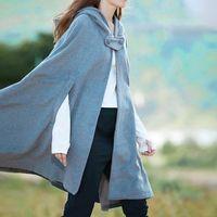 Primavera capa de l mumerher gtico capes com capuz xale casaco ponchos mujer invierno elegantes cabo poncho mantelle invernali