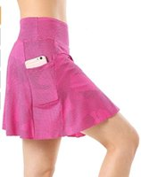 Shorts Skirt Women Golf Tennis Running Workout Skort Yoga Two Layers High Waist Sport with Pocket Plus Size Skirts