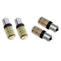 أجهزة الكمبيوتر 1156 LED ضوء لمبة بيضاء كانبس سوبر مشرق السيارات سيارة RV 3014 144 SMD 7506 1003 1073 بدوره إشارة الفرامل سيارة المصابيح الأمامية