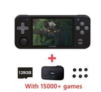 Portable Game Players POWKIDDY-consola De Juegos Porttil RGB10, 3,5 Pulgadas, IPS, RGB10 Max, 128GB, 30000 Juegos, Cdigo Abierto, PS N64, Re