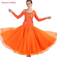 Старшие вышивальные бальные танца платье женщин большие качающиеся платья для леди Waltz танго производительности костюмы сцена