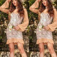 Casual Dresses Dress Women's Above Knee, Mini Summer Fashion Long Sleeve High Neck Package Hip Ruffle Flower Girl #19