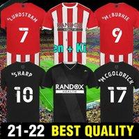 2021 2022 Sheffield Futbol Formaları Mousset Berge Birleşik 21 22 Camiseta De Fútbol McBurnie Lundstram Fleck Eve Uzaktan Futbol Gömlek Norwood Keskin Erkek Çocuk Seti Tops