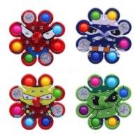 Crianças Empurre Fingertip Top Brinquedos Bubble Camuflagem Impresso Tiktok Squeeze Silicone Decompression Toy Play Place Stress Relief Jogo Cy29